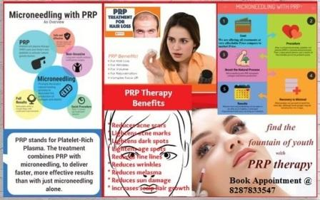 Microneedling with PRP therapy in Karol bagh, New Delhi